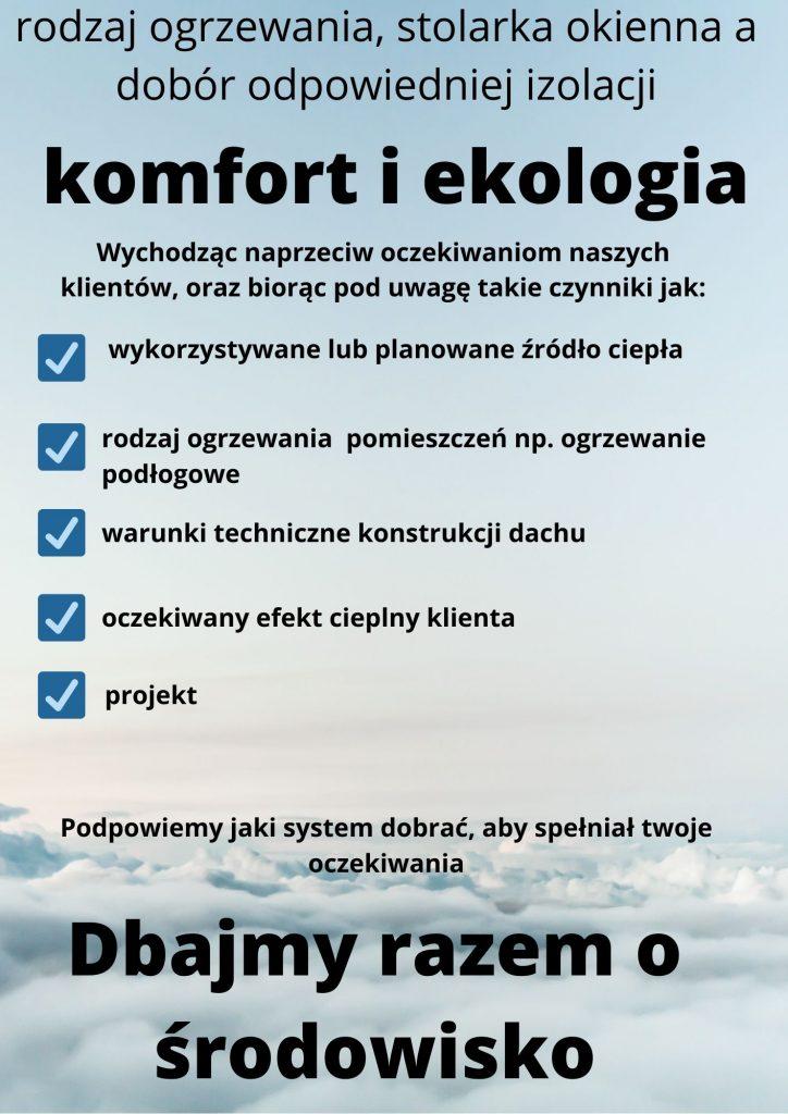 systemy ocieplania poddaszy - plakat środowisko